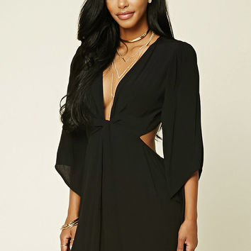 Twist-Front Woven Dress