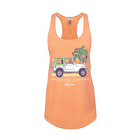 Girls Just Want to Have Sun Tank Top in Light Orange by Lily Grace - FINAL SALE