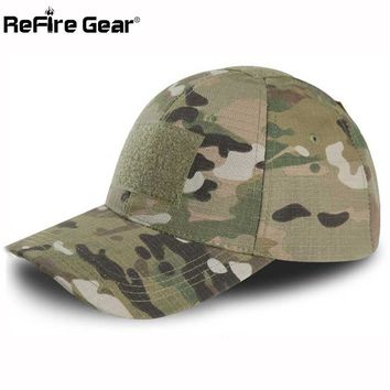Trendy Winter Jacket ReFire Gear Tactical Snapback Camouflage Hat US Army Tactical Baseball Cap Men Casual Rip-Stop Adjustable  Combat Caps AT_92_12