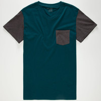 BLUE CROWN Contrast Mens Pocket Tee | Tees 2 for $22
