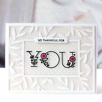 Floral Alphabet English Words Clear Stamps Set For DIY Scrapbooking Ablum Craft Decor New 2018 Transparent Silicone Seal Die Cut