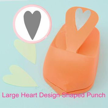Free Shipping large size Heart shape EVA hole punch paper cutter for greeting card furador scrapbooking love hearts craft punch