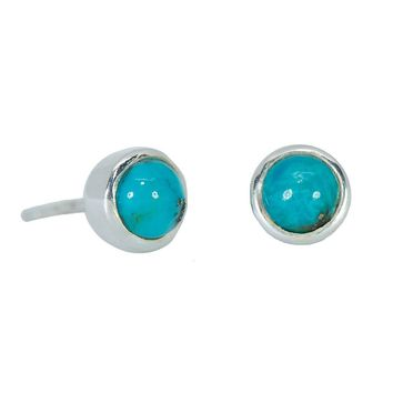 Boho Turquoise Stud Earrings