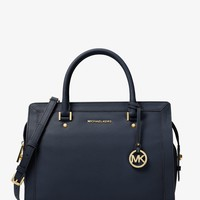 Collins Large Leather Satchel | Michael Kors