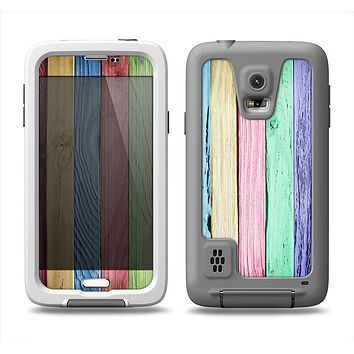 The Light Color Planks Samsung Galaxy S5 LifeProof Fre Case Skin Set