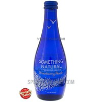 Something Natural Strawberry Peach Sparkling Water 11oz Glass Bottle