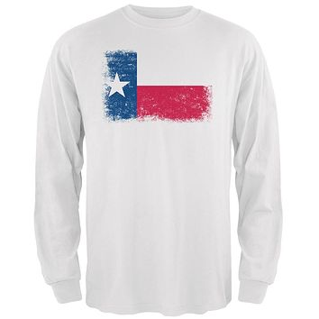 Born and Raised Texas State Flag Mens Long Sleeve T Shirt