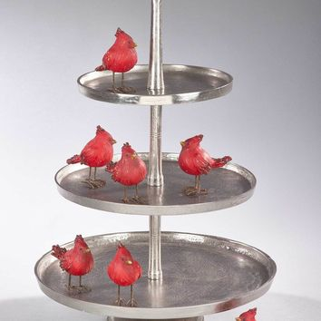 Raw Nickel 3-Tiered Serving Stand