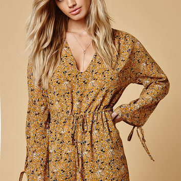 Lucca Couture Rosanna Drawstring Waist Romper at PacSun.com