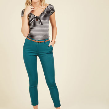 Situationally Savvy Pants in Lagoon | Mod Retro Vintage Pants | ModCloth.com