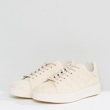adidas Originals Stone Nubuck Stan Smith Bold Sole Sneakers at asos.com