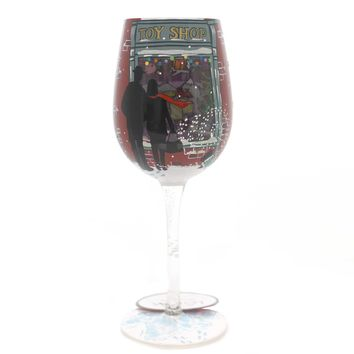 Tabletop KID AT HEART Glass Christmas Wine Glass 6001633