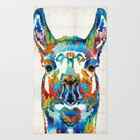 Colorful Llama Art - The Prince - By Sharon Cummings Rug by Sharon Cummings