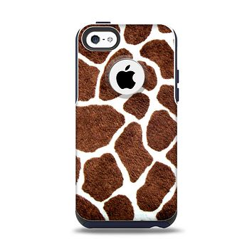 The Real Giraffe Animal Print Apple iPhone 5c Otterbox Commuter Case Skin Set