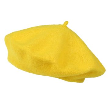 Women's Fashion Casual Beret Beanie Hat yellow