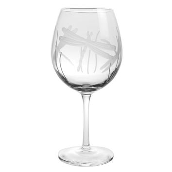 Rolf Glass Dragonfly Balloon 18 oz. Red Wine Glasses (set of 4)