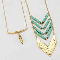 Tribal Chevron Tribal Necklace Gold