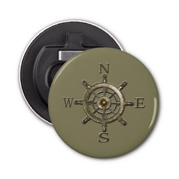 West Coast Compass Bottle Opener