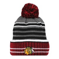 Old Time Hockey Chicago Blackhawks Huntley Cuffed Knit Beanie - Adult, Size: One Size (Black Gray)