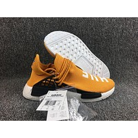 Adidas Boost Nmd Human Race Orange Women Men Fashion Trending Running Sneakers