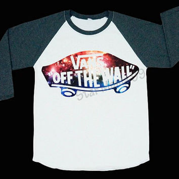 VANS Off The Wall Galaxy Shirts VANS Tee Hipster Shirt Rock Shirt Baseball T Shirt Long Sleeve Shirt Women T-Shirt Unisex T-Shirt Size S,M,L