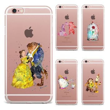 For Fundas iPhone 6 Case SE 5S 6 6S 7 Plus Beauty And The Beast Soft Silicone TPU Cover New Arrivals Original For iPhone 7 Case