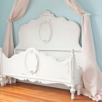 antique shabby chic bed frame full white distressed OMG so pretty cottage prairie