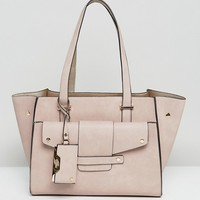 Dune Winged Structured Tote Bag at asos.com