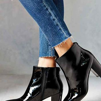 Vagabond Saida Patent Leather Boot- Black