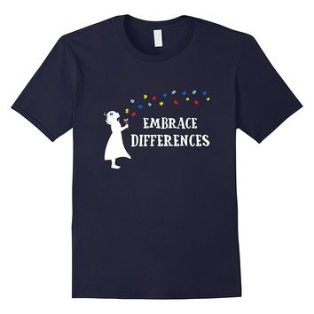 Embrace Differences Shirt Day Autism Awareness Shirts 2018