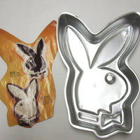Playboy Bunny Wilton Cake Pan 1970 Mould Mold 502-2944