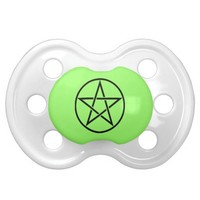 Pentacle Pentagram Pagan Wiccan Baby Pacifier