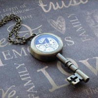 Antiqued Brass Key Necklace Enchanted by TheEnchantedLocket