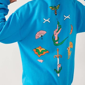 Silence + Noise Tattoo Crew-Neck Sweatshirt | Urban Outfitters