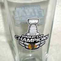 2013 Stanley Cup Champions Chicago Blackhawks Pint Glass
