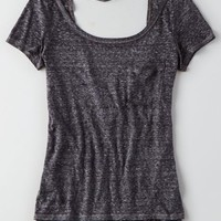 AEO Soft & Sexy Bar Back T-Shirt , Tar Ash | American Eagle Outfitters