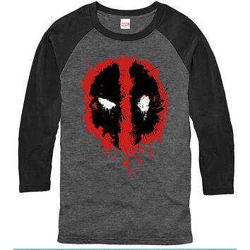 Deadpool - 3/4 Sleeve T-Shirt - Deadpool Splatter