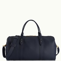 GiGi New York Henley Duffle Navy Pebble Grain Leather
