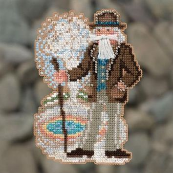 Mill Hill National Parks Yellowstone Santa Ornament Counted Cross Stitch Kit