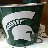 NCAA Michigan State Spartans 5 Quart Metal Ice Bucket