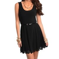 Little Black Dress with Belt