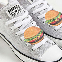 Hamburger - shoe clips, glitter and leather
