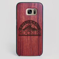 Colorado Rockies Galaxy S7 Edge Case - All Wood Everything