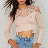 J.O.A. Swayed by the Lace Crop Top