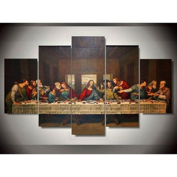 Unframed Canvas Art Printed Jesus The Last Supper Canvas Print Room Decor Print Poster Picture Canvas Painting
