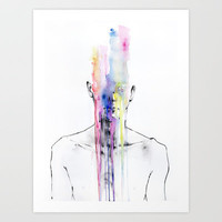 All my art is on you but you still don't hear me Art Print by Agnes-cecile