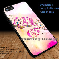 Cheshire Cat Pink Quote Galaxy DOP1285 iPhone 6s 6 6s+ 5c 5s Cases Samsung Galaxy s5 s6 Edge+ NOTE 5 4 3 #quote
