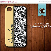 20% OFF SALE Personalized iPhone 4 Case - Plastic iPhone case - Rubber Silicone iPhone case - Monogram iPhone case - iPhone 4s case - MC079