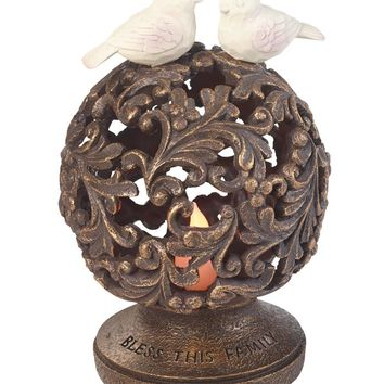 "Precious Moments ""Bless This Family"" Solar LED Garden Orb Sculpture-185009"