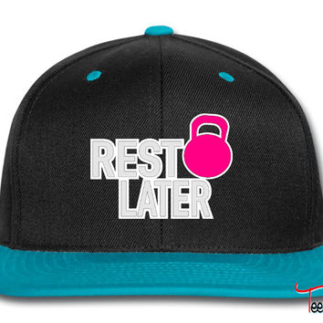Rest Later Kettlbell WOD Inspiration Snapback